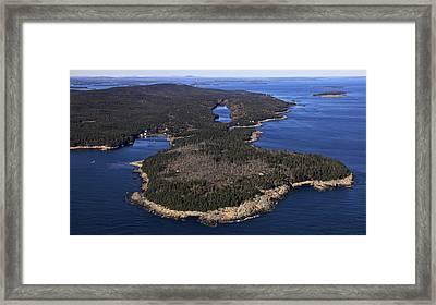Eastern Head And Head Harbor, Isle Au Framed Print by Dave Cleaveland