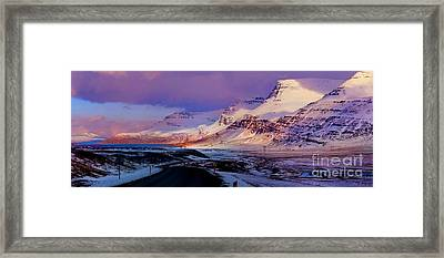 Eastern Iceland Mountain Pass Framed Print