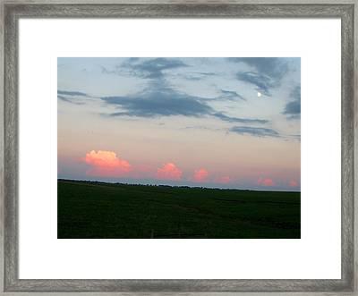 Eastern Kansas Moonrise Framed Print