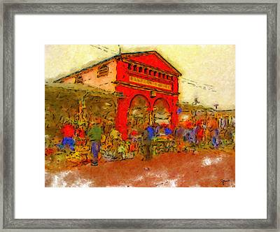 Eastern Market Framed Print by John Farr