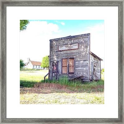 Eastern Oregon Road Trip An Old Shop Framed Print by Blenda Studio