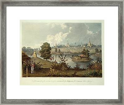Eastern Road From Rangoon Framed Print by British Library