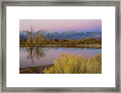Eastern Sierra Dawn Framed Print