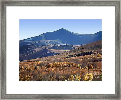 Eastern Sierra Nevada Autumn Framed Print by Wernher Krutein
