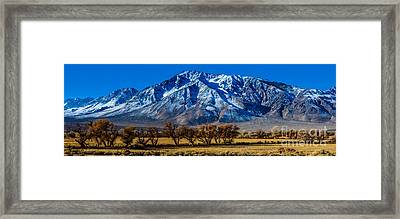 Eastern Sierra Nevada Panorama - Bishop - California Framed Print