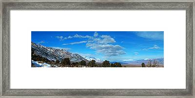 Eastern Sierras Panoramic - U S 395 California Framed Print