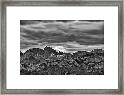 Eastern Sierras Summer Storm Framed Print by Terry Garvin