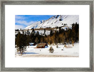 Eastern Slope Cabin Framed Print by Donald Fink