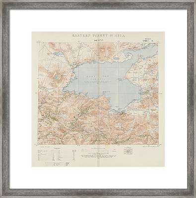 Eastern Turkey In Asia Framed Print by British Library