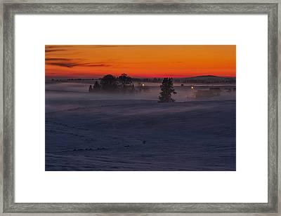 Eastern Washington Winter Sunset Framed Print