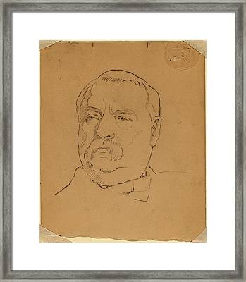 Eastman Johnson, Grover Cleveland Recto Framed Print by Quint Lox