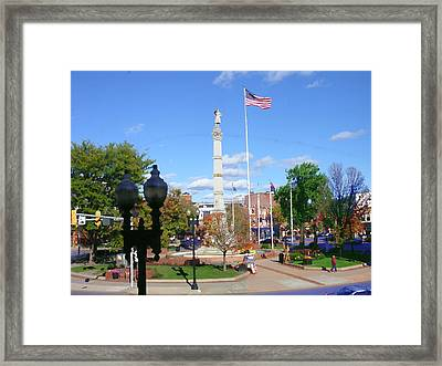 Easton Pa - Civil War Monument Framed Print