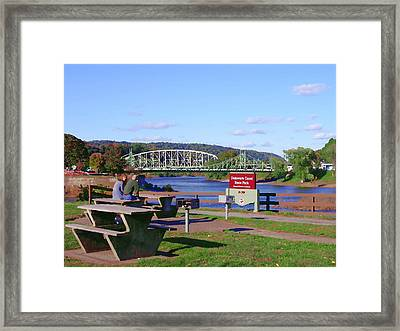 Easton Pa - Delaware Canal State Park Framed Print by Jacqueline M Lewis