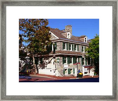 Easton Pa - Bachmann House Abstract Framed Print by Jacqueline M Lewis