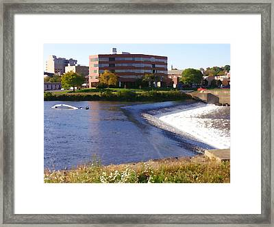 Easton Pa - Two Rivers Landing Framed Print by Jacqueline M Lewis