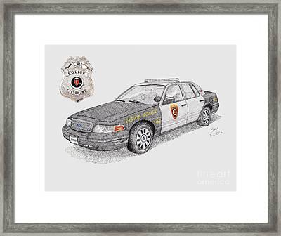 Easton Police Car 107 Framed Print