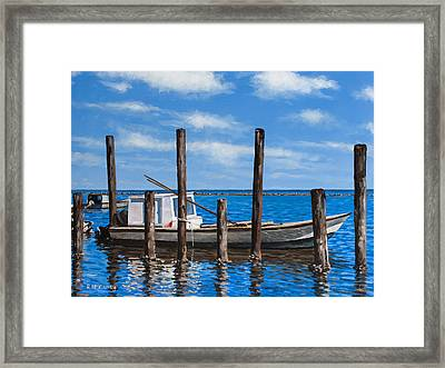 Framed Print featuring the painting Eastpoint Gray by Rick McKinney