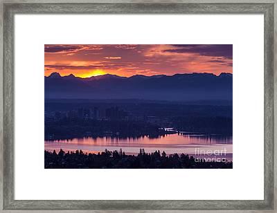 Eastside Awakening Framed Print by Mike Reid
