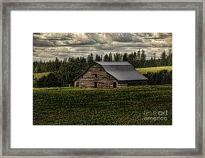 Eastside Road Barn Framed Print