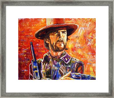 Framed Print featuring the painting Eastwood Josey Wales by Jennifer Godshalk