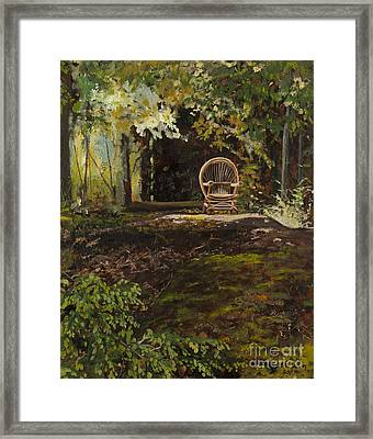 Easy Chair Framed Print by Carla Dabney