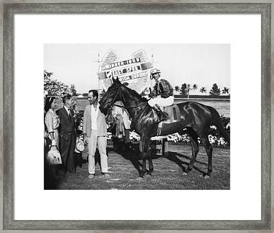Easy Spur Horse Racing Vintage Framed Print by Retro Images Archive