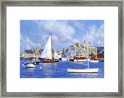 Easy Street Basin Blues Framed Print by Candace Lovely