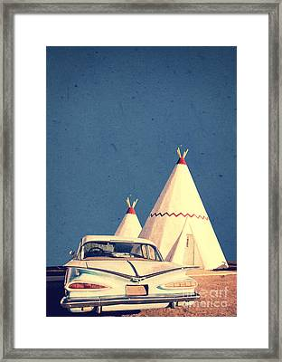 Eat And Sleep In A Wigwam Framed Print by Edward Fielding