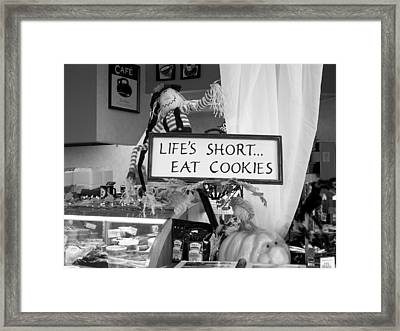 Eat Cookies Framed Print