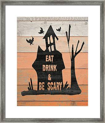 Eat, Drink And Be Scary Framed Print by Jo Moulton