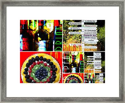Eat Drink Play Repeat Wine Country 20140713 V3 Horizontal Framed Print by Wingsdomain Art and Photography