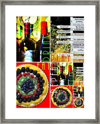 Eat Drink Play Repeat Wine Country 20140713 V3 Vertical 2 Framed Print by Wingsdomain Art and Photography