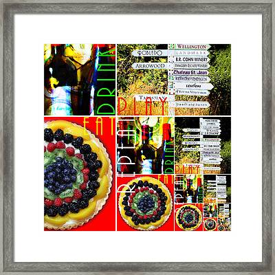 Eat Drink Play Repeat Wine Country 20140713 V3b Framed Print by Wingsdomain Art and Photography