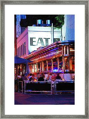 Eat Framed Print by James Kirkikis