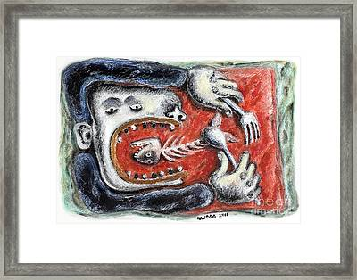 Eat Me - 2011 Framed Print by Nalidsa Sukprasert