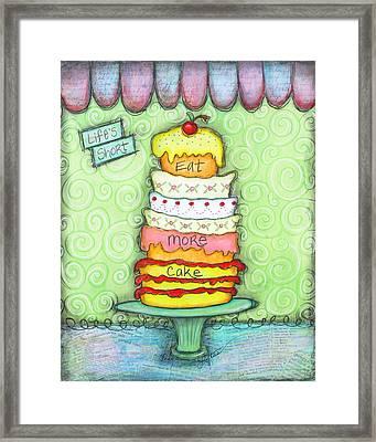 Eat More Cake Framed Print by Joann Loftus