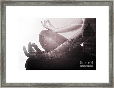 Eat Pray Love In Rome Framed Print