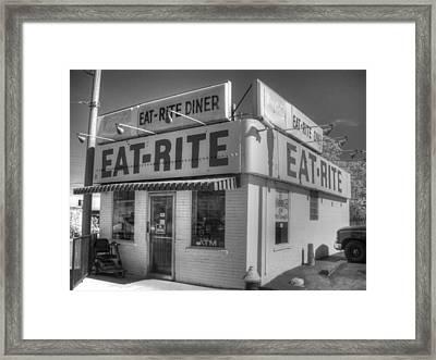 Eat Rite Diner Framed Print by Jane Linders