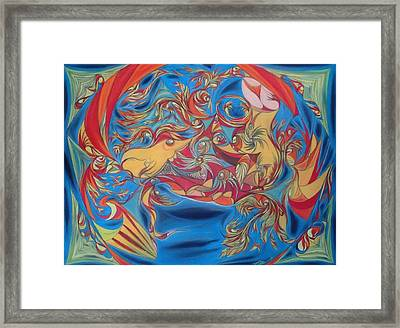 EAT Framed Print by Robert Nickologianis