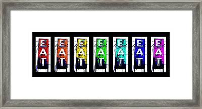 Eat The Rainbow Framed Print