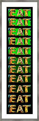 Eat Up Framed Print