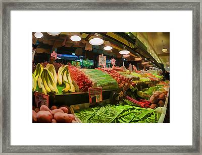 Eat Your Fruits And Vegetables Framed Print by Scott Campbell