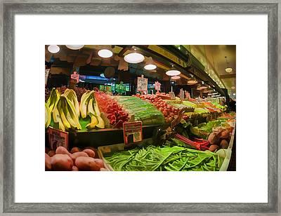 Eat Your Fruits And Vegetables Framed Print