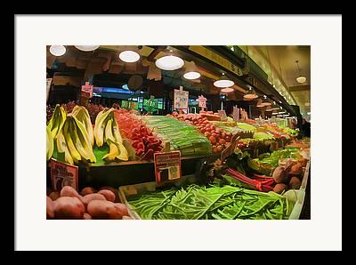 Local Food Digital Art Framed Prints
