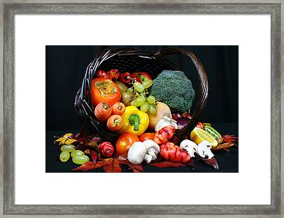 Eat Your Greens Framed Print