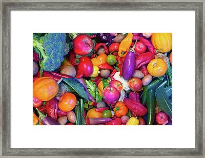Eat Your Veggies Framed Print by Alixandra Mullins