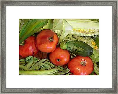 Eat Your Veggies Framed Print by Elaine Plesser