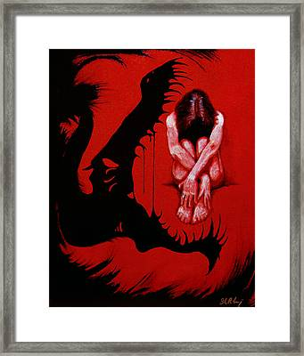 Framed Print featuring the painting Eater by Dale Loos Jr