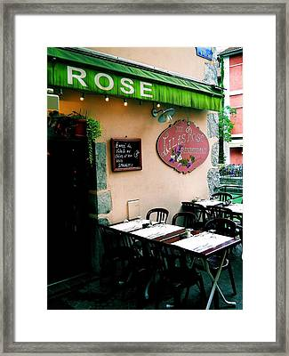 Eatery 1 Framed Print by Maria Huntley