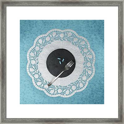 Eating Pills Framed Print